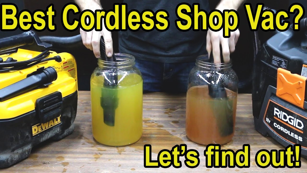 Which Cordless Shop Vac Brand is Best? Let's find out!