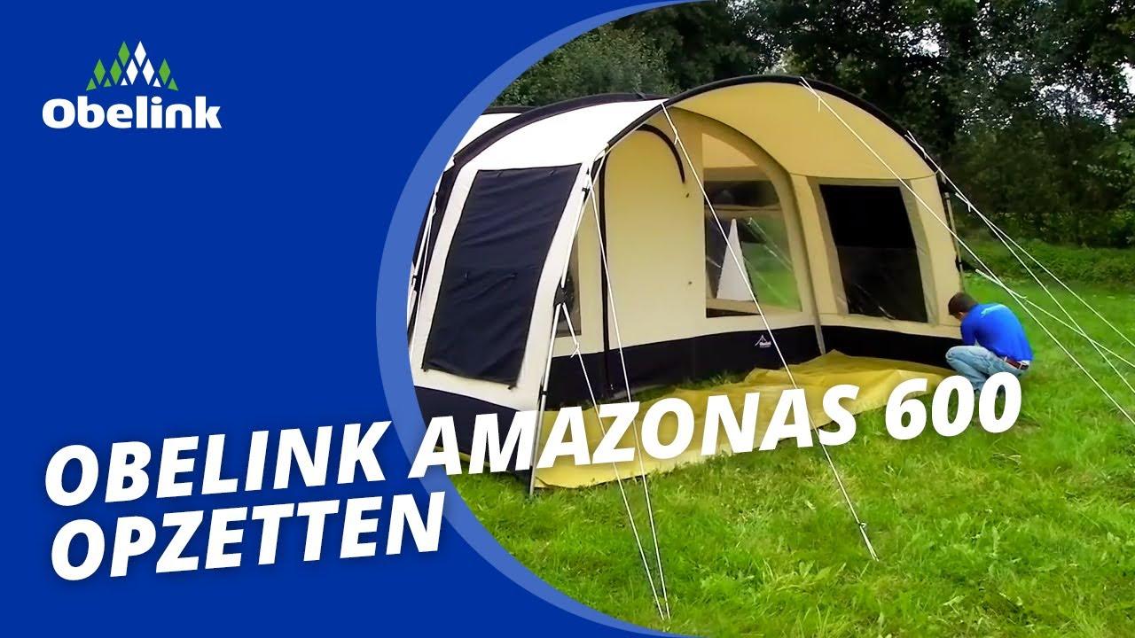 obelink amazonas 600 opbouwinstructie welke tunneltent heeft 3 slaapcabines obelink youtube. Black Bedroom Furniture Sets. Home Design Ideas