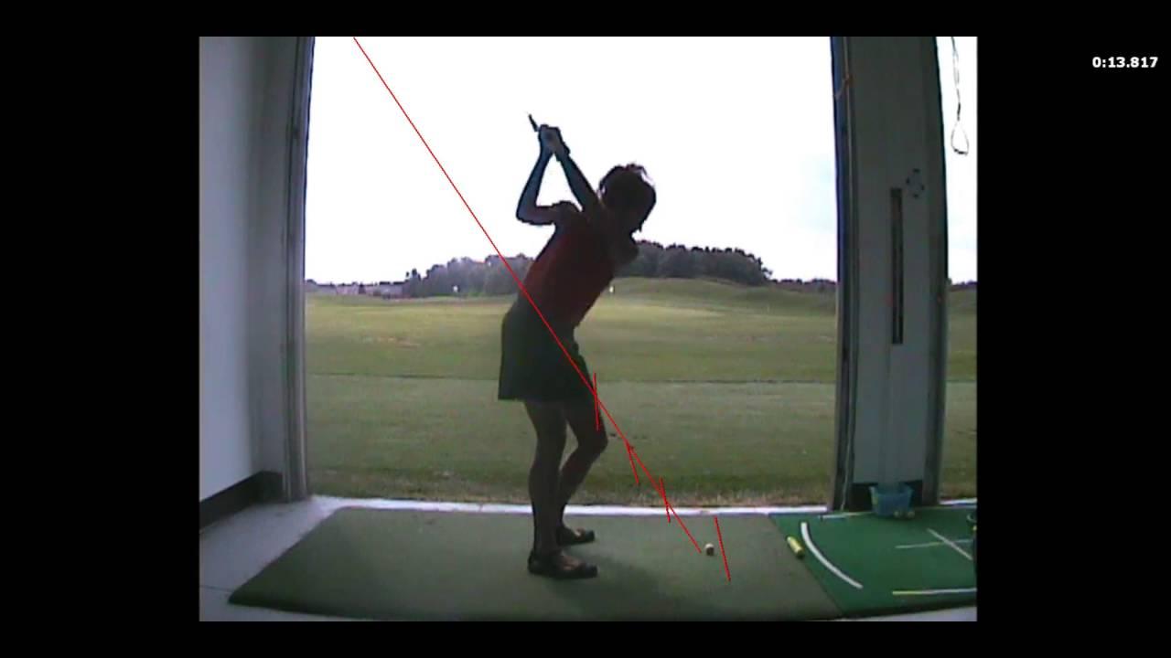 Swinging the clubhead in golf