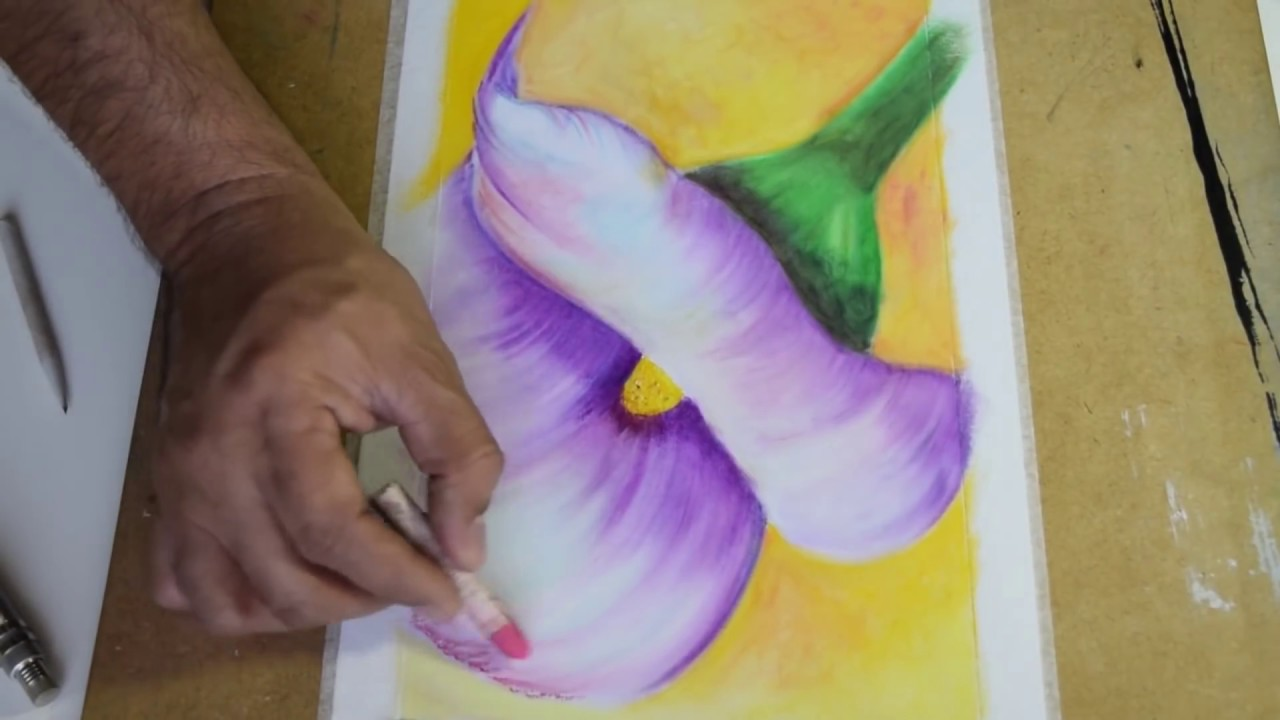 How To Draw Flowers With Oil Pastelso Pintar Flores En Oleo Pastel
