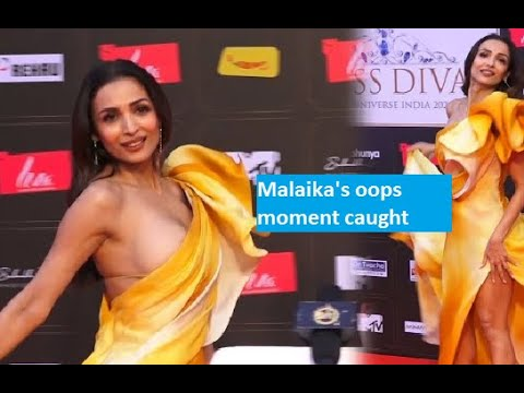Oops! Malaika Arora's risky dress exposes her assets