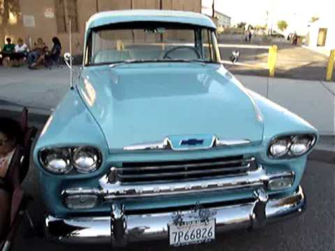 1958 Chevy Apache Pickup Cruisenightjuly 2011 Youtube
