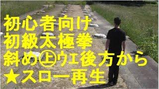 初級太極拳【①あるようで無かった】斜め㊤(ウエ)後ろからスロー再生。初心者のための太極拳@古の中国文化が残る平城京