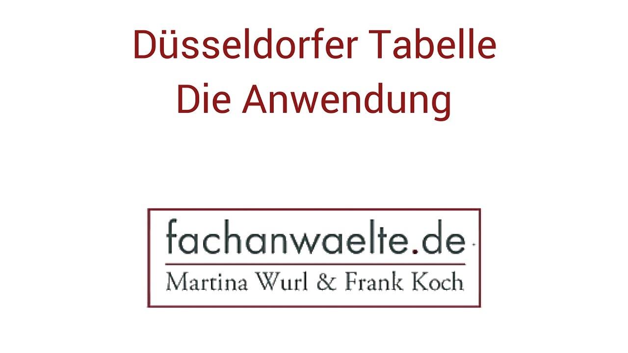 Dusseldorfer Tabelle 2020 Alles Zum Kindesunterhalt Rechner