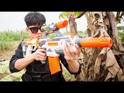 Squad S.W.A.T Nerf Guns Battle Criminal Group | Special Police Hunting Criminals 2 👍