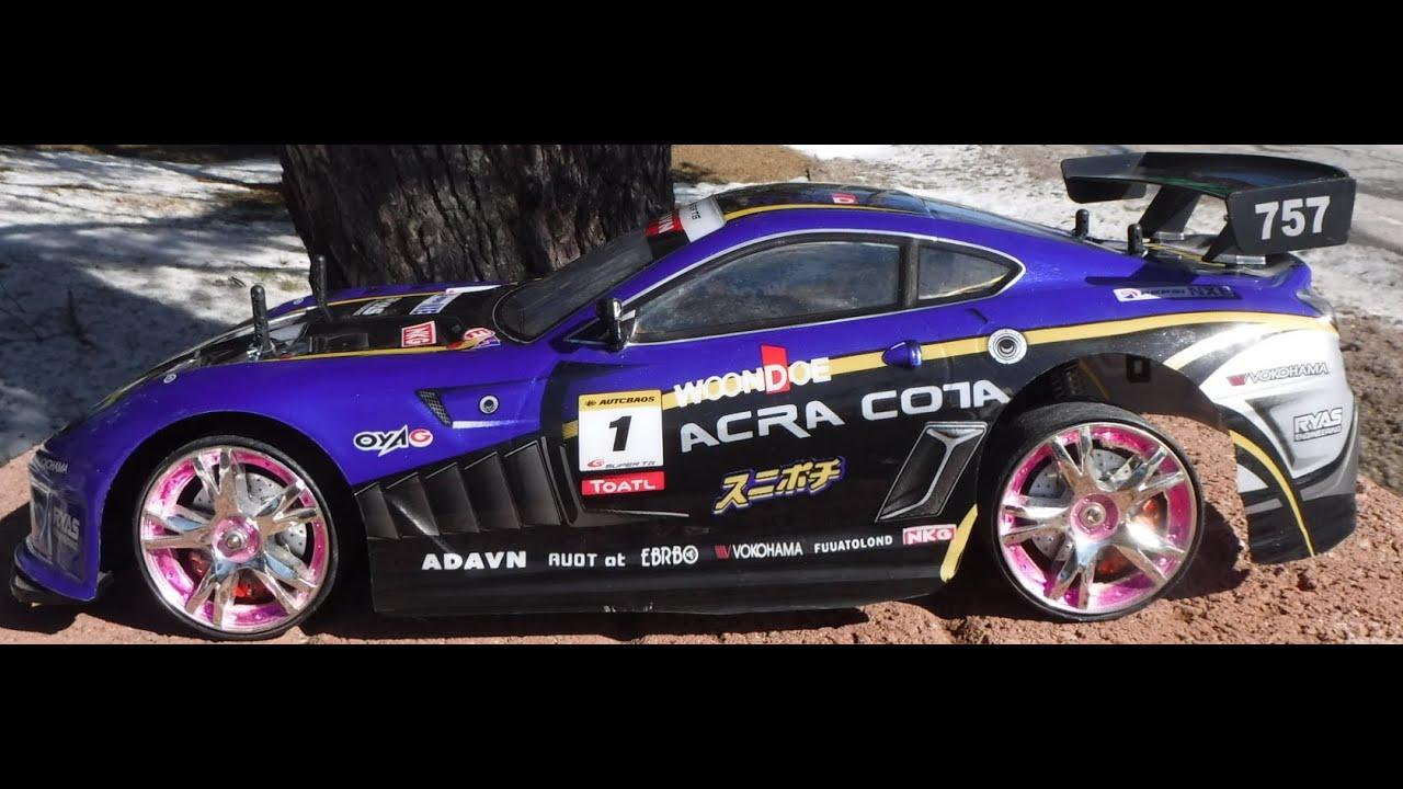 Acra Cota Rc Drift Car First Drift Youtube