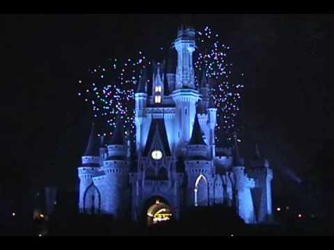 Disney World Fireworks Display Wishes Magic Kingdom