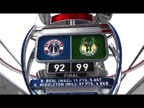 Washington Wizards vs Milwaukee Bucks - February 11, 2016