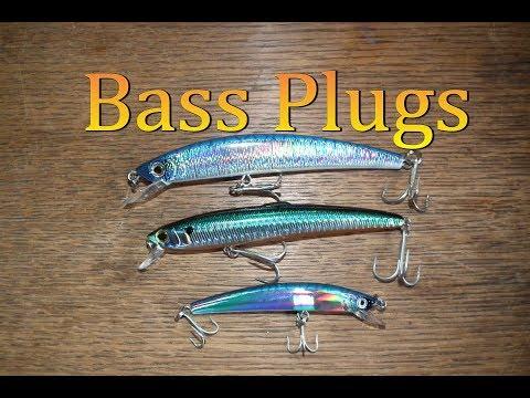 Bass Plugs - Yo Zuri, Crystal Minnow, Rapala Magnum, Nomura, Fladen