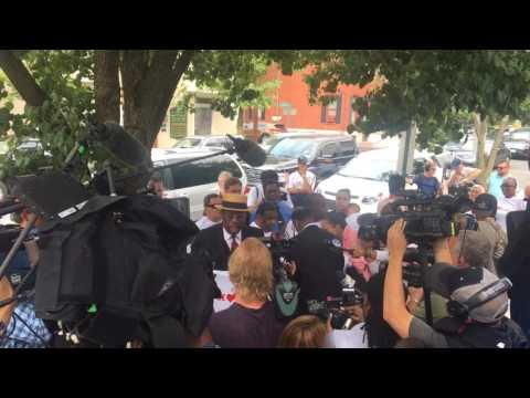 Bill Cosby supporters rant, chant outside courthouse