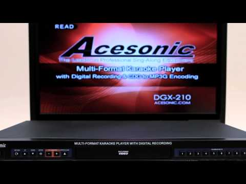 Acesonic DGX-210 Multi-Format Karaoke Player with MP3G Converter - How to set it up