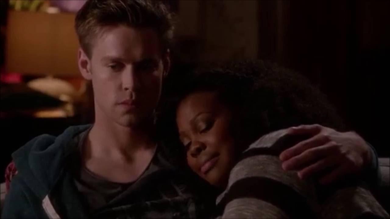 Glee Sam tells Mercedes that he cheated on her 5x20 - YouTube
