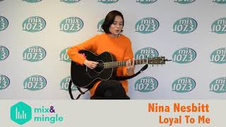 Nina Nesbitt sings Loyal To Me at mix&mingle