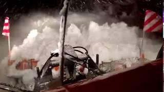 Schiltrac beim Schneeräumen