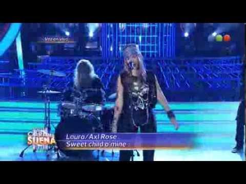 Laura Esquivel como Axl Rose – Tu Cara Me Suena HD (Gala 12)