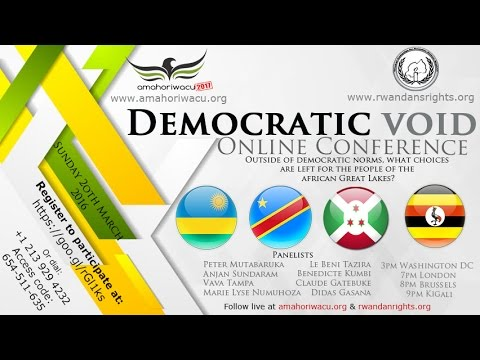 Amahoriwacu2017:  Democratic Void in African Great Lakes Region
