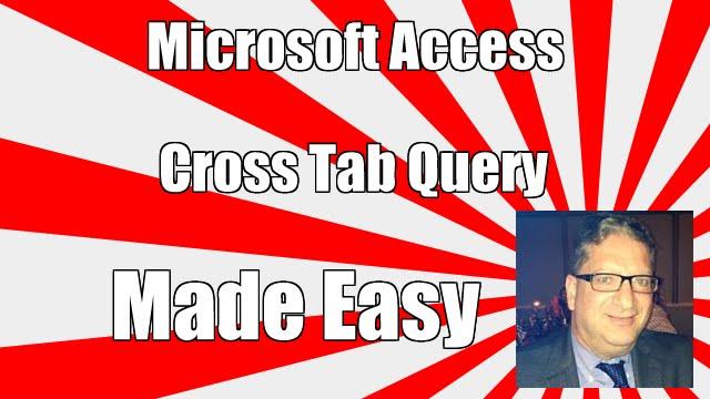 Access Cross Tab Query - 2016, 2013, 2013 Crosstab query tutorial access  2016 crosstab query