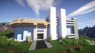 Красивый модерн дом в майнкрафт Строим Вместе! часть 2 - Строительство - Minecraft