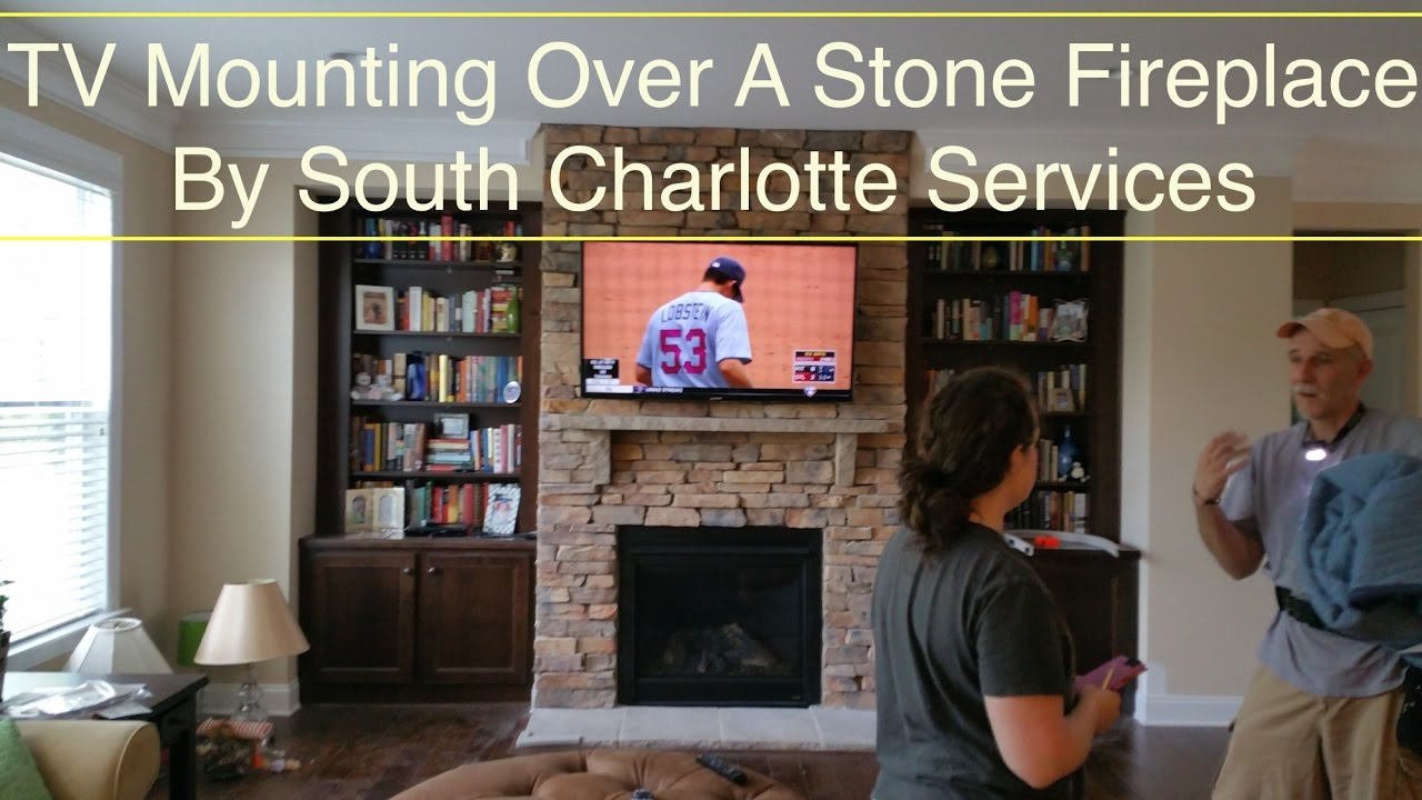 South Charlotte Tv Mounting Service Over A Stone