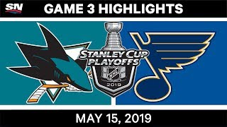 NHL Highlights | Sharks vs. Blues, Game 3 – May 15, 2019