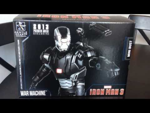 Gentle Giant IRON MAN 3 War Machine Mini Bust PGM 2013 Gift Review and Un-boxing