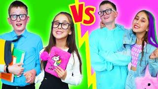 Escuela Secundaria vs Primaria | Momentos divertidos con Amigos para siempre