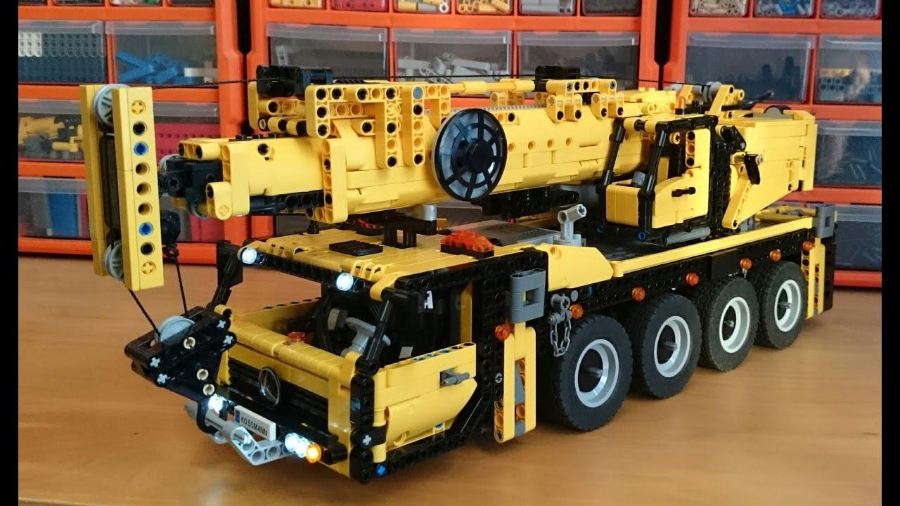 Mobile Crane Axle Loads : Lego technic rc axle mobile crane