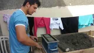Como fazer bloco de concreto com bancada mais rápido e sem dor *How To Make Concrete Block