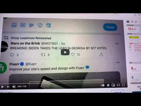 CNN Reports Biden Takes The Lead In Georgia By 917 Votes vs Donald Trump 2020 Presidential Election