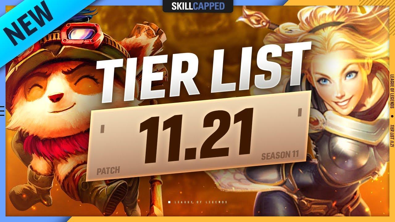 NEW TIER LIST for PATCH 11.21 - League of Legends