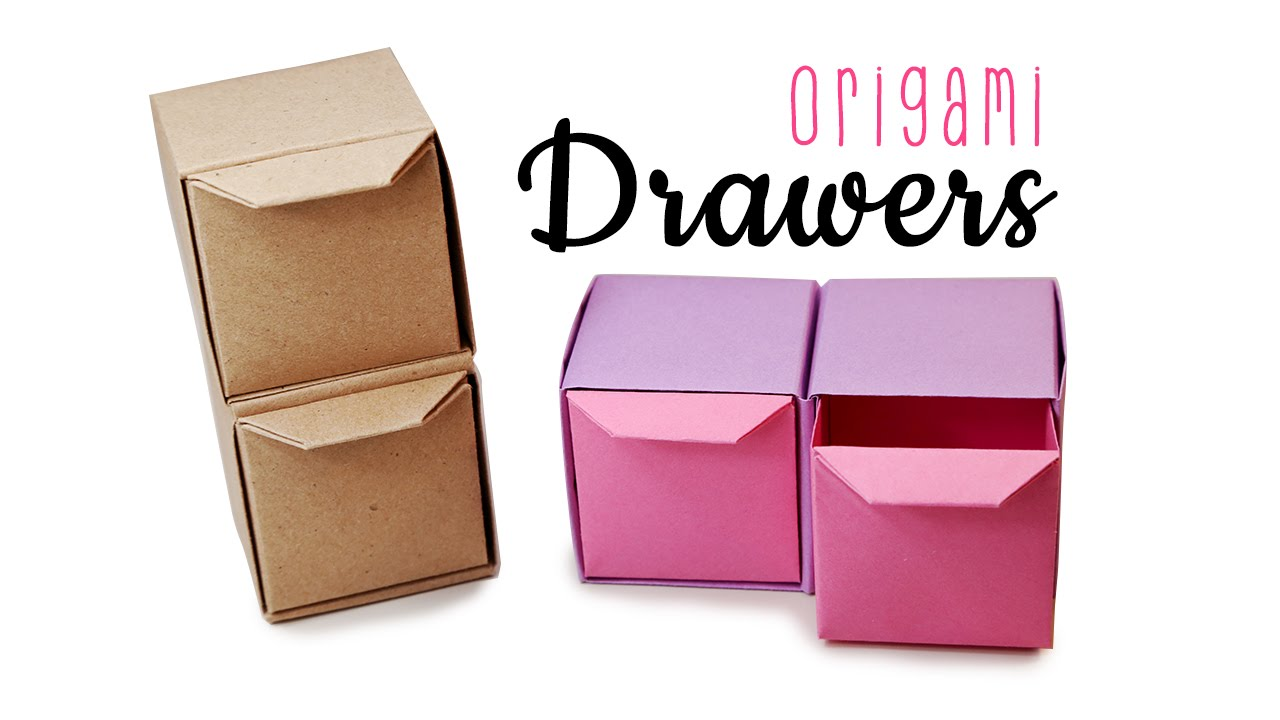 Origami pull out drawers instructions tutorial diy for Making simple drawers