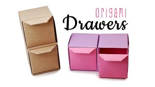 Origami Pull Out Drawers Instructions