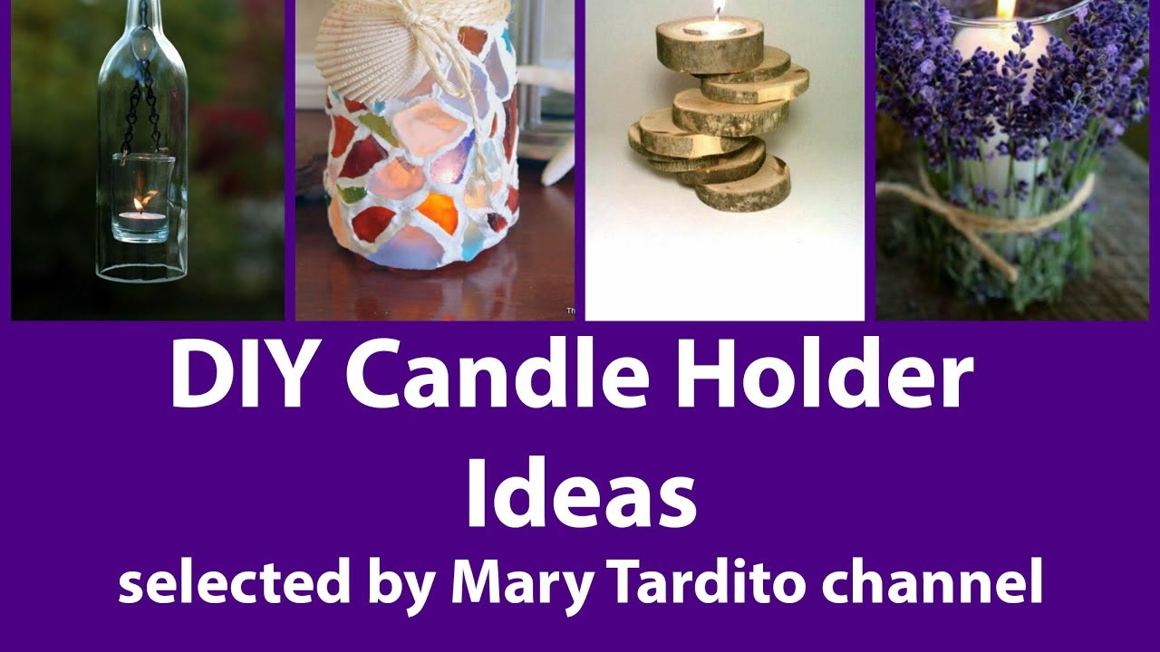 Diy candle holder ideas easy crafts to make and sell for Diy project ideas to sell