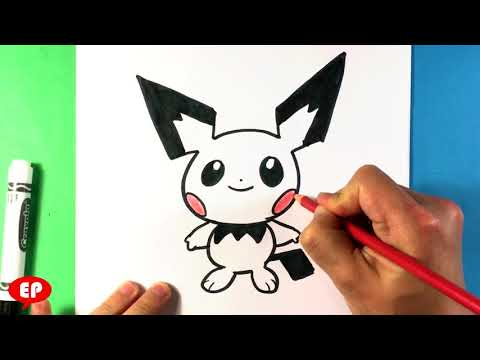 How to Draw Pichu - Pokemon - Super Smash Bros Ultimate - Easy Pictures to Draw - Step for Beginners