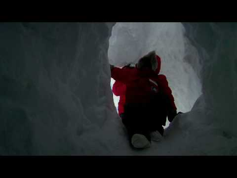Exploring an Ice Cave in Antarctica