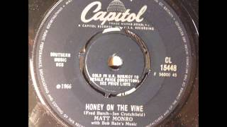 Matt Monro - Honey On The Vine (Capitol Uk)