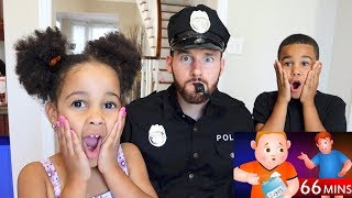 Police Dad Johny Johny Yes Papa Kids Pretend Play | FamousTubeKIDS