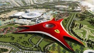 Феррари парк Ferrari World в Абу-Даби (ОАЭ)(Ferrari World (Мир Феррари) - огромный развлекательный парк в Абу-Даби - столице Арабских Эмиратов, являющийся..., 2015-01-15T13:27:11.000Z)