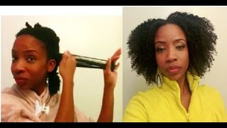 Finger Detangling using Shea Moisture African Black Soap Purification Masque