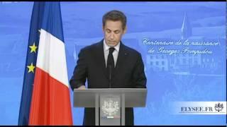G. Pompidou : Discours de N. Sarkozy à Montboudif