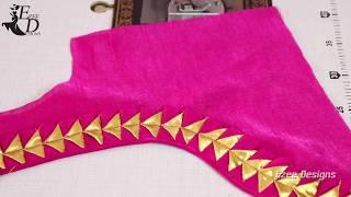 Cotton Saree Blouse Easy Back Neck Design