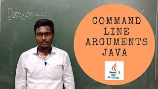JAVA COMMAND LINE ARGUMENTS