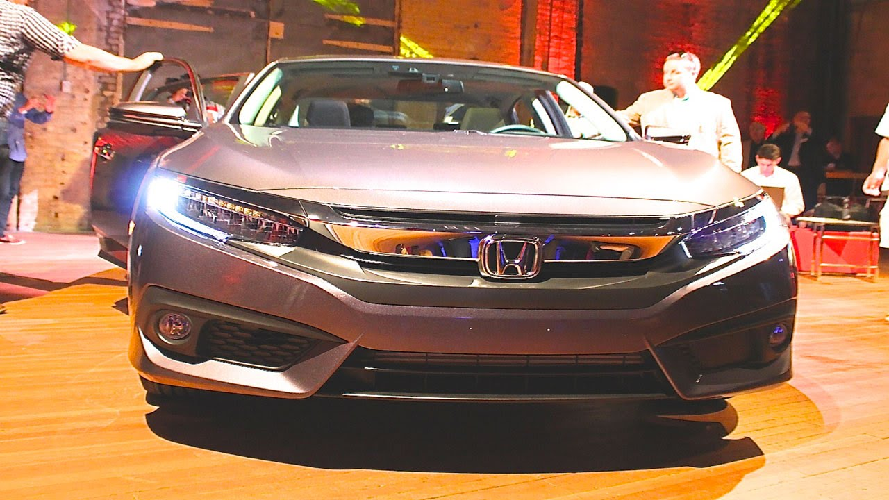 2016 new honda civic revealed for the first time   over 45mpg