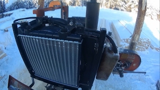 Установка радиатора Hyundai Accent на Wood-Mizer LT-40 Mobile Radiator replacement