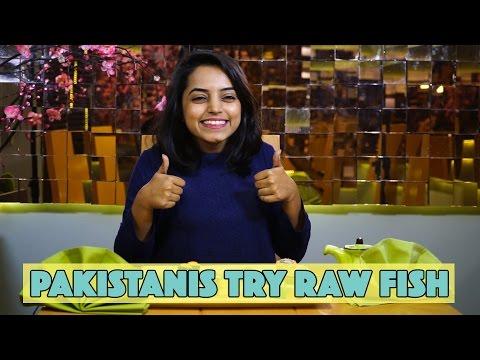Pakistanis Try Raw Fish (Sushi) | MangoBaaz