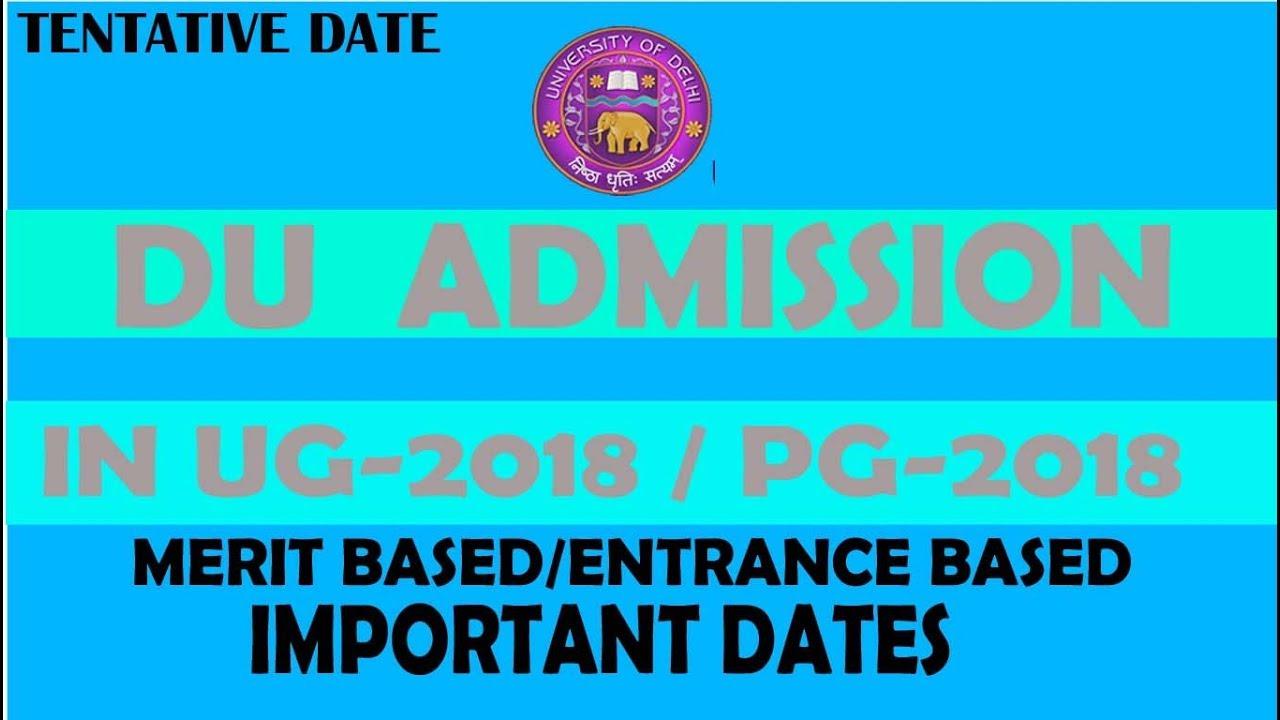DU Admission 2018 | DELHI UNIVERSITY UG ADMISSION 2018 |DU PG ... on