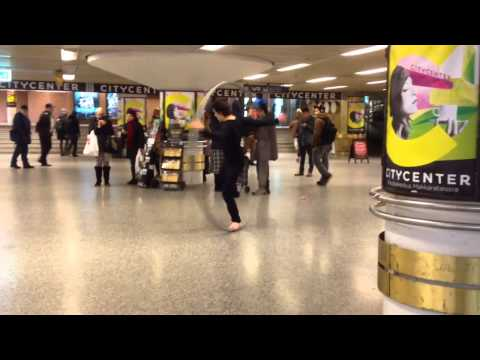 Performer in Helsinki Grand Central Station