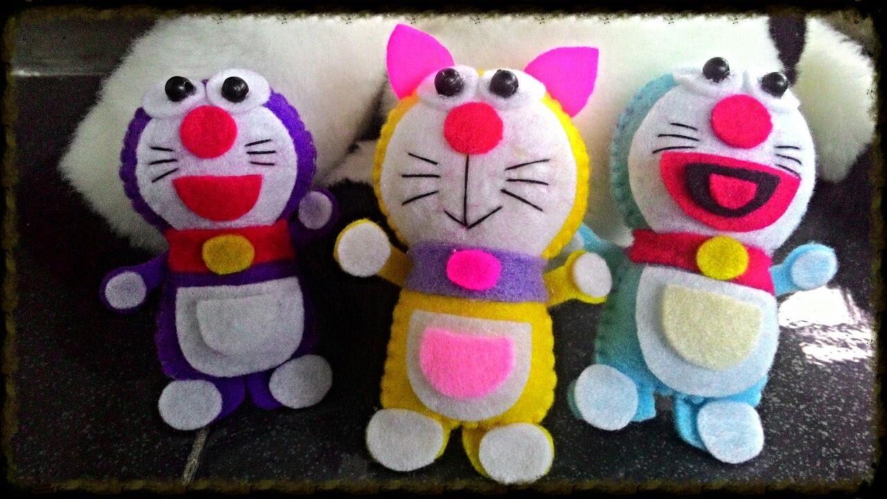 Tutorial Flannel Felt Boneka Doraemon Ala Rangga Bastian