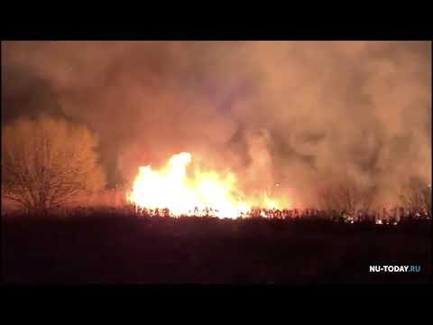 Ландшафтный пожар в Новой Усмани