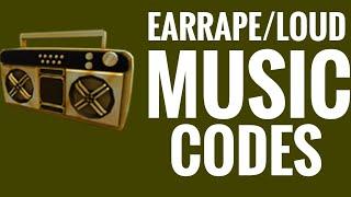 CODES FOR LOUD/EARRAPE SONGS ON ROBLOX